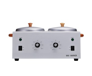 Double pot wax heater/professional depilatory wax warmer for hands and foot