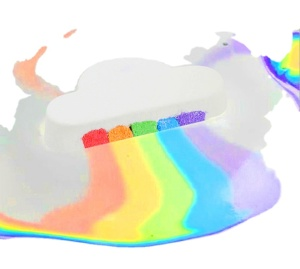 Explosive rainbow fart cloud turn bath moisturizing exfoliating bath salt ball essential oil rainbow bath ball OEM