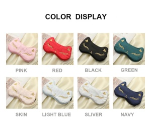 New Product Hot Cold Gel Ice Pack Embroidery Fox USB Electric Heated Silk Satin Eye Mask