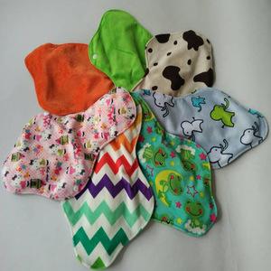 Reusable washable cloth bamboo charcoal menstrual women pads breathable women feminine panty liner sanitary napkin pad