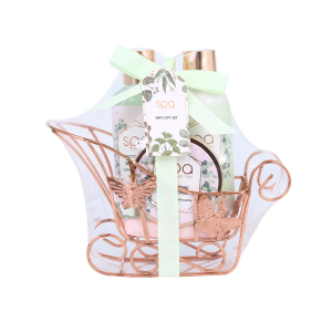 Wire caddy packing skin care moisturizing shower gel spa kit body lotion beauty body bath gift sets
