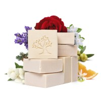 Le Joyau d'Olive Luxury Ancestral Soap, Handcrafted Artisanal Virgin Olive & Essential Oils, Gift Pack of 7 units – for Face and Body
