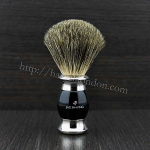 100% Super Badger Hair Premium Shaving Brush Black NEW DESIGN by Jag shaving