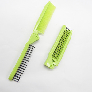 China folding hair brush for travel plastic foldable comb