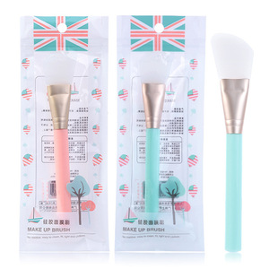 Custom logo cosmetic makeup brush diy mask tool soft silicone face mask brush