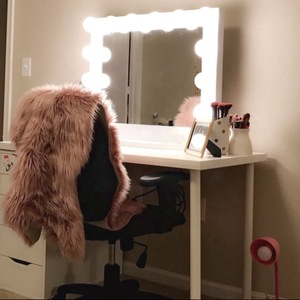 Desktop Large Hd Vanity Mirror Light Home Wedding Hollywood Led Makeup Mirror With Led Lights,Cosmetic Mirror