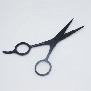 High quality men beard grooming stainless steel beard scissors black