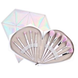 Holographic Brushes Holder Unicorns Gift Makeup Diamond Case Set with Brush