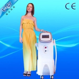 hospital medical CE beauty opt system ipl rf nd yag laser 2 handpiece RF equipment