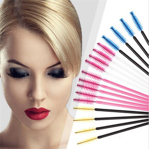 Hot Sale 100Pcs Disposable Eyelash Brush Mascara Wands Applicator One-Off Eye Lash Brush Makeup Tools