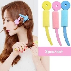 Korea Hot sale magic hair curl sponge 3pcs twist hair styling set rollers