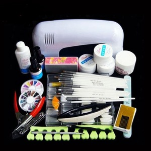 Nail Phototherapy Sets Phototherapy Lights 15 Painted Pens Frustration Nail Clips Manicure Tools 21 Piece Set