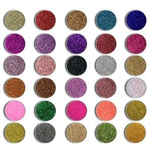 OEM Professional Sombra textured Makeup Glitter Shimmer Eye shadow Pigment Diamond Rainbow Pressed Glitter Eyeshadow