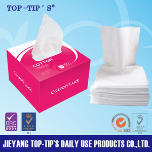 Personal care facial tissue 100pcs per box cotton tissue comfortable