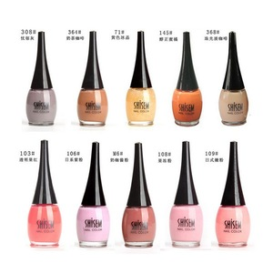 pink DIY nail art nail polish with painting pattern