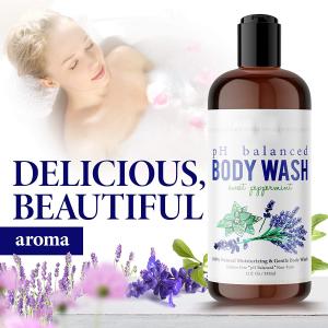 private label hotel  bottle lavender fragrance organic whitening bath shower gel