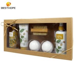 Romantic woman home spa bath body works gift set wire basket