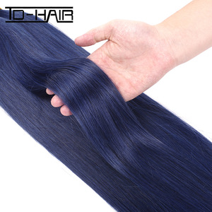wholesale indian human hair bundles 100% indian human hair weaving pure color blue hair extensions