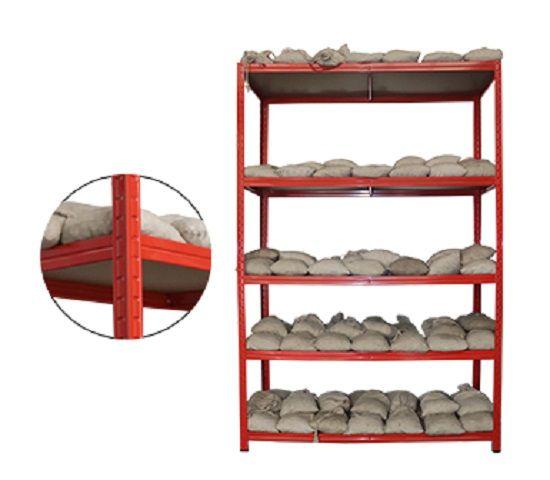 light metal shelves
