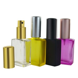 15ml 30ml 50ml 100ml rectangle square empty clear glass perfume bottle with pump sprayer
