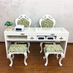 2019 Beauty Salon Equipment Make Up Desk Glass Top Manicure Tables Hot Sale Nail Desk White Used Nail Table Manicure Table