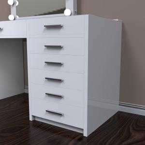 2021 new and hot big white color Hollywood Cosmetic Vanity Dressing Table with  mirror hollywood