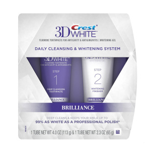 3D White Brilliance Daily Cleansing Toothpaste and Whitening Gel System 6.3 Oz