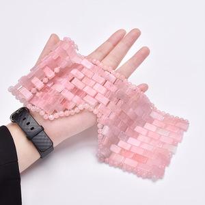 Cooling Natural facial Pink Rose Quartz Jade Sleep eye Mask For Beauty
