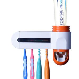 Electric UV Light Sanitizer Kills 99.9% Bacteria Toothbrush holder Sterilizer & Toothpaste dispenser