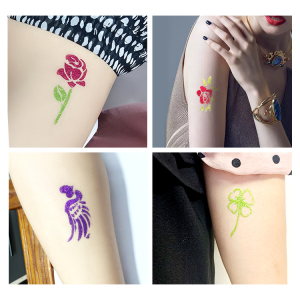 Hot sale new design tattoo stencil booklet A5 size and 10 pages each body art stencil sticker