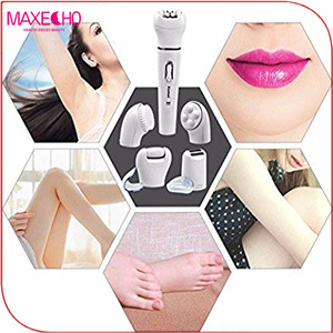MAXECHO Electric Hair Removal Epilator ,Cordless Electric Shaver, Hard Skin Remover Body Massage Roller Beauty Kit for Women