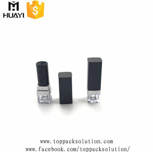 square shape plastic make your own lipstick tube