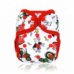 Waterproof PUL newborn cloth diaper/nappy cover, double leaking gussets