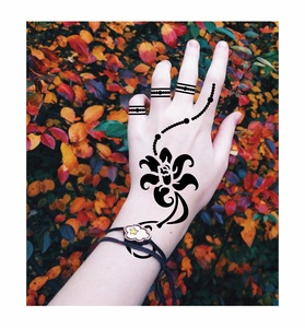 Wholesale best selling reusable henna stencil tattoo stickers for body art