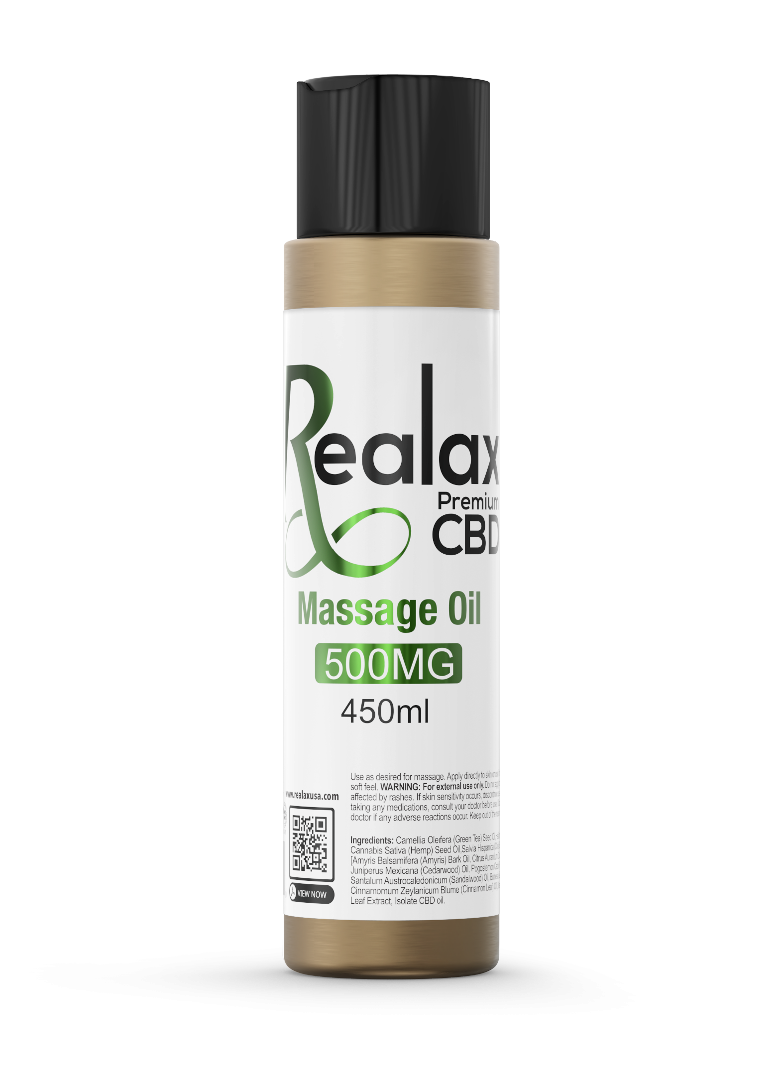 Realax CBD Massage Oil 300mg