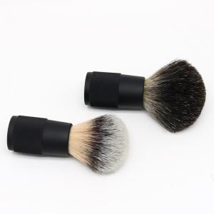 Custom logo travel size  badger hair shaving brush metal handle shaving brush