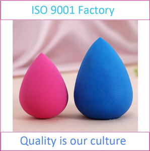 Factory Price Waterdrop Makeup Sponge Blending Cosmetic Powder Puff With Opp Dust Bag