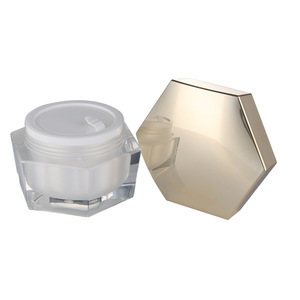 High quality luxury 30g 50g body lotion cream acrylic cosmetic jar wholesale