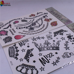High quality new style removable tattoo customized lovely kids temporary Tattoo sticker for promotion