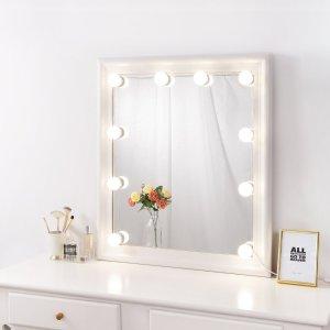 Wholesale Hollywood Touch Sensor Switch Mirror Desktop Beauty Led Light Makeup Mirror With 12pcs Light Bulbs Vanity Mirror