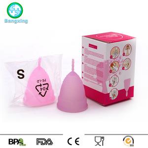Wholesale Ladies Period Feminine Hygiene Free Sample FDA Medical Grade Silicone Menstrual Cup