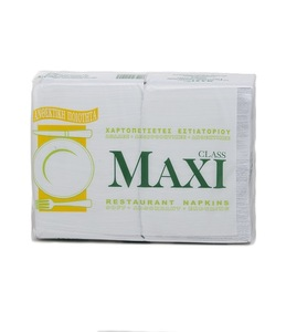 100 % Pure Cellulose Sanitary White Paper Tissue Napkins - 1 ply , hard 28 x 30 cm , 400 pcs x 8 packs