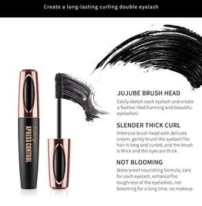 2018 Hot 4D Silk fiber EyeLash Makeup Waterproof Silicone Brush Head Mascara Lengthening Thicker Mascara