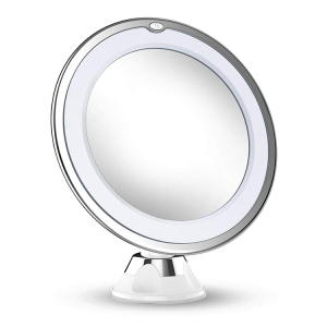 2019 updated version led Makeup Mirror 10X 7X Magnifying suction mount Makeup Mirror