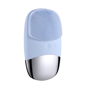 2020 Private Label Mini Waterproof Ultrasonic Face Cleaning Brush Electric Sonic Silicone Facial Cleansing Brush