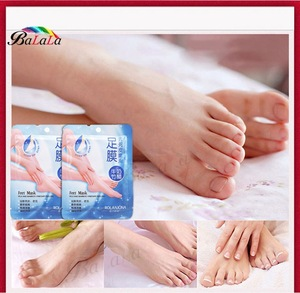 2pairs/lot Milk bamboo remover dead skin peeling foot mask skin smooth exfoliating feet mask foot care
