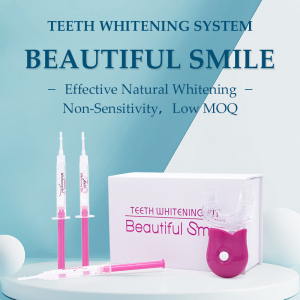 Best LED Teeth Whitening Private Logo Label Bleaching Gels Trays Home Tooth Whitening Kits