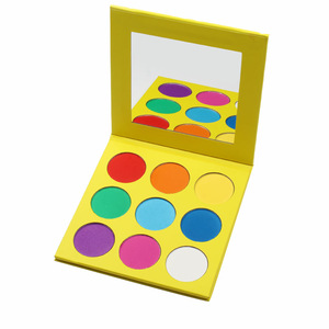 Custom your own color eyeshadow palette private label 9 color eyeshadow palette