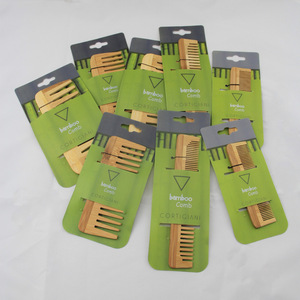 Natural Bamboo Hair Comb Mini Pocket Comb