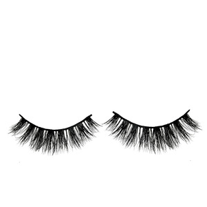New arrived round case eyelash very soft natural false 3d mink lashes custom eyelash packaging